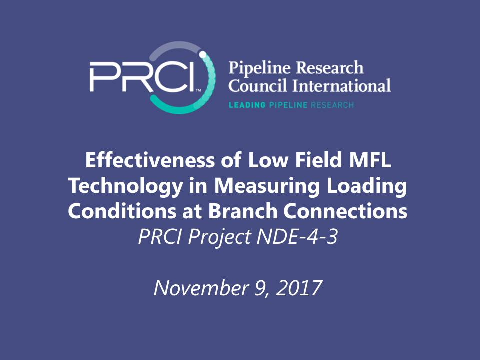 WEBINAR (RECORDING): Effectiveness of Low Field MFL Technology in Measuring Loading Conditions at Branch Connections (NDE-4-3)