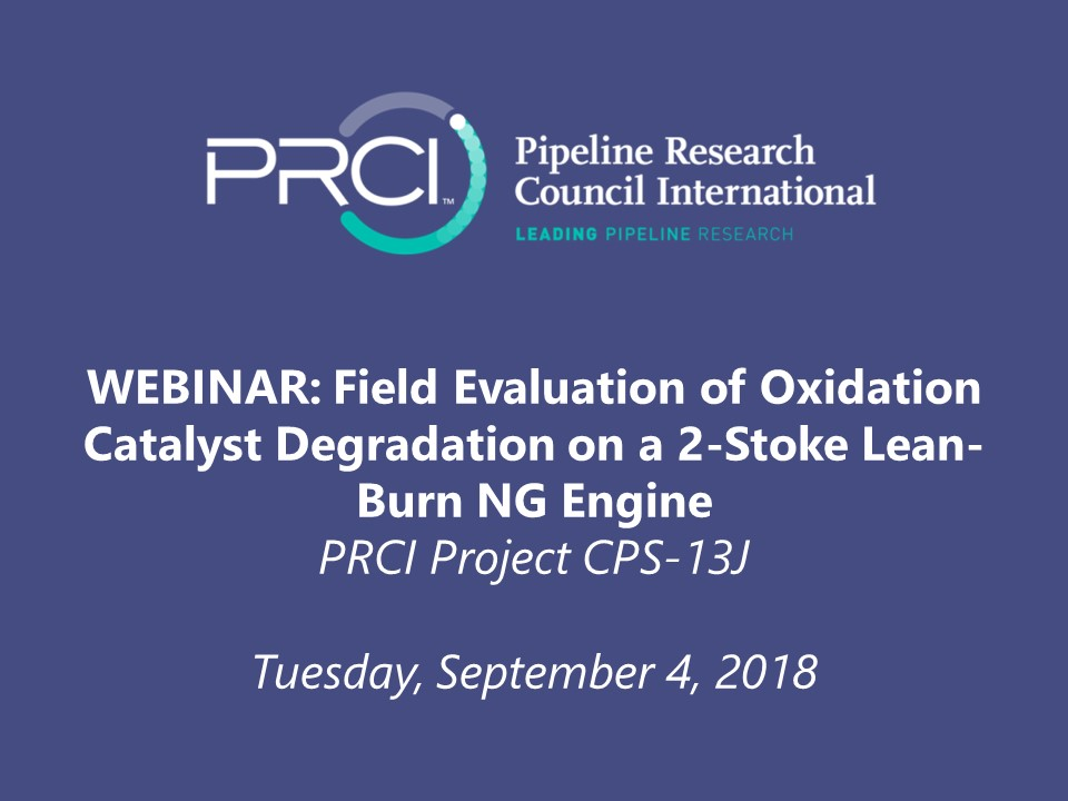 WEBINAR (RECORDING): Field Evaluation of Oxidation Catalyst Degradation on a 2-Stroke Lean-Burn Engine