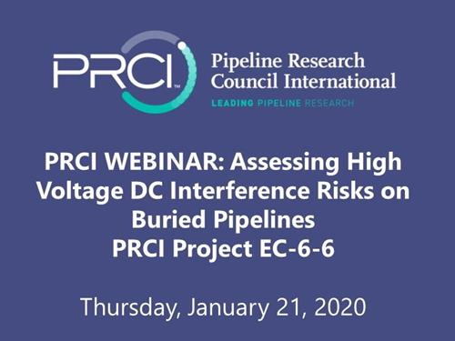 PRCI WEBINAR (RECORDING): Assessing High Voltage DC Interference Risks on Buried Pipelines