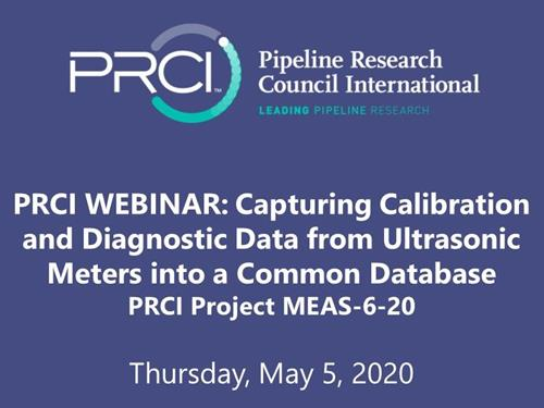 PRCI WEBINAR (RECORDING): Capturing Calibration and Diagnostic Data from Ultrasonic Meters into a Common Database